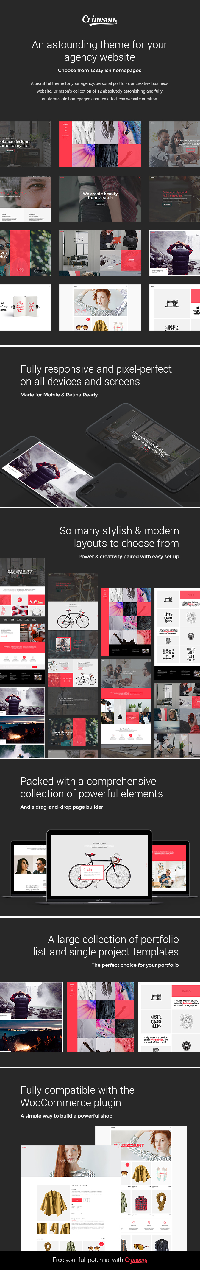 Crimson – A Polished Theme for Creative Agencies and Freelancers