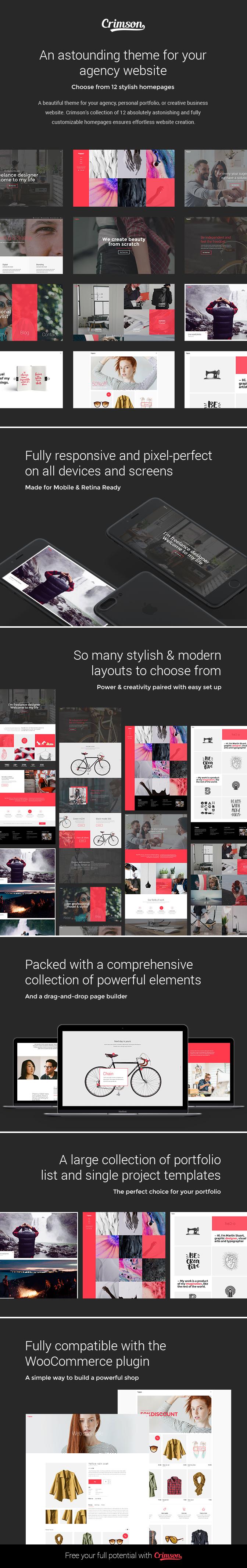 Crimson - A Theme for Freelancers - 1